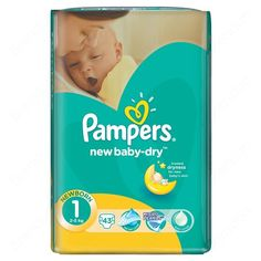 OK Pampers disposable diaper  New baby-dry Volue Pack 1 Newborn 43 pcs  КУПИ 3 пакета от тях!!!