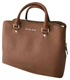 807158ab7465 Michael Kors Savannah Saffiano Leather Satchel in Luggage Maletín De Cuero,  Kate Spade