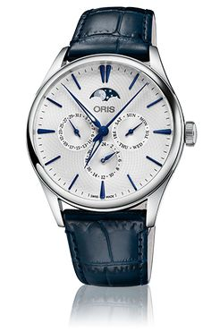 Uncomplicated elegance the Artelier Complication of Oris. Available as 40.5mm the Oris Artelier complication with a second time zone, it
