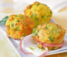 Muffins petits pois oignons frais et curry