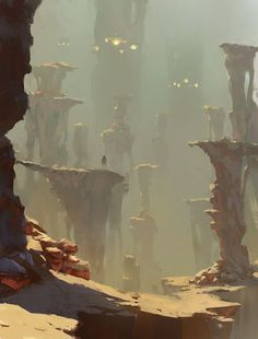 Environment Concept Art by Hamen