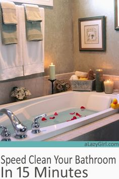 Speed Clean Your Bathroom in 15 Minutes  a Lazy Girl