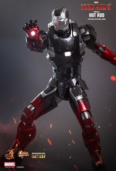 Hot Toys : Iron Man 3 - Hot Rod (Mark XXII) 1/6th scale Collectible Figure.