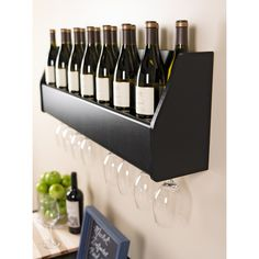 Floating Black Wine Rack   Overstock.com Shopping - The Best Deals on Wine Racks