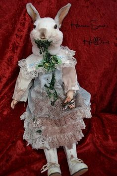 Taxidermy Rabbit THE EXORCIST doll oddities one of a kind Horror Gore Macabre on Etsy, $130.00