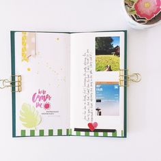 Traveler's Notebook layout by Bananafishstudio