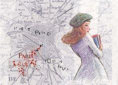 postcards from paris Anton, Paris, Java, Postcards, Shape, Cute Illustration, Illustrations, Montmartre Paris, Paris France