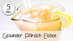 Pfirsich-Eistee ohne Zucker - Rezept von Unsere Vegane Küche