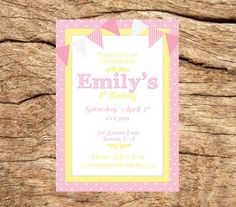Custom Pink Lemonade Party Invitation by PuddinPopPrints on Etsy, $15.00
