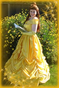 Beauty and the Beast Belle Ball gown Dress by pixiedustboutiquee, $300.00