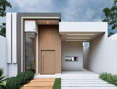 One Storey House, Modern Bungalow, Minimalist House, Facade, Villa, Houses, House Design, House Styles, Instagram