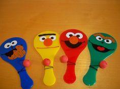 Sesame Street paddle ball favor