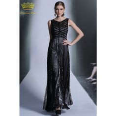 PRINCESS KISS Formal Dresses 2014 New Arrival Simple Design Floor Length Black Celebrity Dresses Party PK30956 Buy Now at www.princesskiss.co.uk