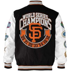 San Francisco Giants Commemorative Varsity Jacket By G Iii Mlb Com Shop Baseball Tshirts Dodgers Varsity Jacket