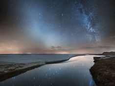 Milky Way Galaxy and Zodiacal Light over North Jutland,Denmark. Zodiacal light is created by sunlight reflected from dust that was mostly expelled by comets that have passed near Jupiter, orbiting the. Side By Side Pictures, All Pictures, Astronomy Pictures, Nasa Images, Spiral Galaxy, Before Sunrise, Image Of The Day, Our Solar System, Amazing Spaces