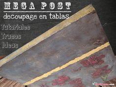 Mega-post Decoupage en tablas y lienzos | Aprender manualidades es facilisimo.com