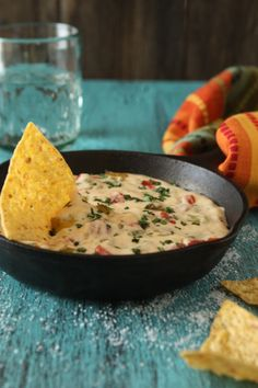 Chili Con Queso with Hatch Chiles