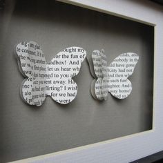 Personalised Bridesmaid Gifts - Framed butterfly art