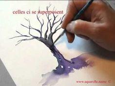 """L'arbre en hiver """"atelieraquarelle.org"""" - YouTube"""
