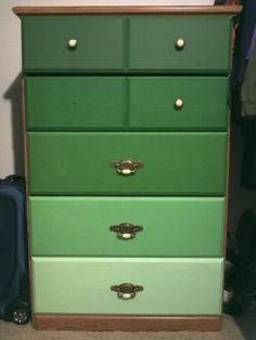 My ombre drawers. I turned my drab, cheap dresser into something fantastic.