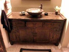 Zen Simplicity In This Bath. Chinese Elmwood Cabinet Accented With Tropical  Woven Rattan Face Made · Asian BathroomBathroom VanitiesZen ...