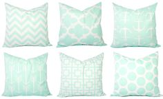 Mint Pillow Covers - Mint Throw Pillows - 16 x 16 Inch Pillow Covers - Mint Decorative Pillows - Mint Accent Pillow - Nursery Pillows by CastawayCoveDecor on Etsy https://www.etsy.com/listing/194089376/mint-pillow-covers-mint-throw-pillows-16