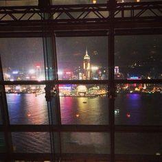 Hong Kong by night from Aqua Spirit bar! Love it :)