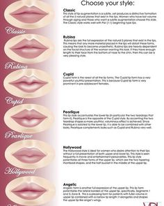 Picking a Perfect Pout is part of eye-makeup - While a plump pout is a highly desired trait, patients may be weary of undergoing lip augmentation due to the growing number of overly injected celebrities We've all seen the 'trout pout' around H… Botox Fillers, Dermal Fillers, Lip Fillers, Perfect Lips, Relleno Facial, Maquillage Black, Makeup Tips, Beauty Makeup, Mac Makeup