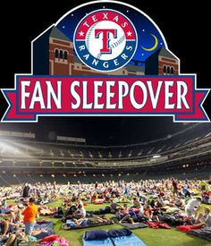 Fan Sleepover | texasrangers.com yes please!