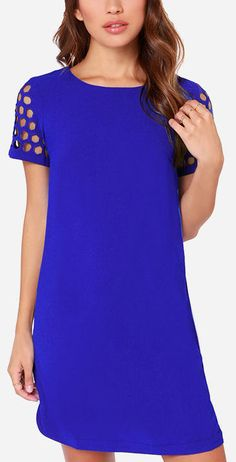 Honeycomb On Over Royal Blue Dress