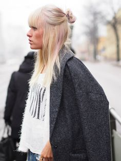 In the streets of Helsinki. The cool fashion blogger Sara Vanninen wearing our new coat. Read more here: http://tickleyourfancy.indiedays.com/
