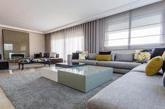 Aménagement d'un appartement salon marocain moderne et séjour européen par l'ingénieuse décoratrice d' Intérieur Sur Mesure - Sophia Jamai - Casablanca Maroc