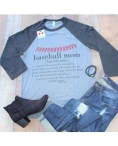 Baseball Mom- tee- shirt- clothing