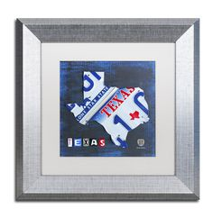 Texas License Plate Map by Design Turnpike Framed Graphic Art