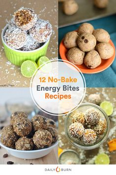 From key lime pie to chocolate chip cookie dough, these energy bites recipes will conquer your cravings and make your taste buds smile. via @dailyburn