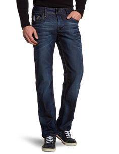 G-Star Raw Men's Attacc Low Rise Straight Leg Jean in Dark Aged Blue