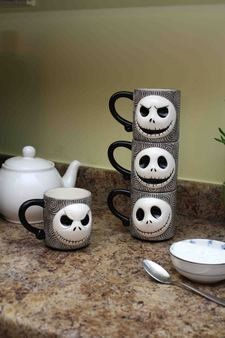 Nightmare Before Christmas Jack Skellington Sculpted Stackable Mugs by NECA, http://www.amazon.com/dp/B007JNEATI/ref=cm_sw_r_pi_dp_lGpmrb1DNXVFH