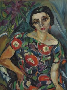 Irma Stern (1894-1966) Portrait of Rebecca Hourwich Reyher 20th Century,