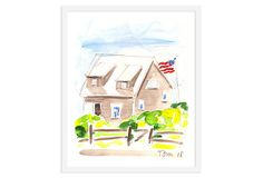 House With Flag - tom Slaughter