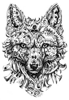 Deceiver  Illustrative interpretation of the Red Fox.Black ballpoint pen in about 4 hours.Facebook   Deviantart   Tumblr   Society6