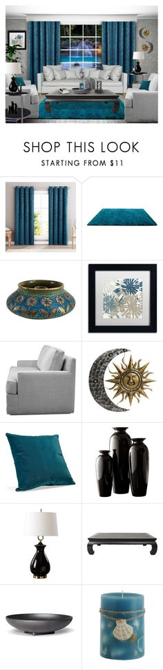 """FORMAL LIVINGROOM"" by arjanadesign ❤ liked on Polyvore featuring interior, interiors, interior design, home, home decor, interior decorating, HLC.ME, Bitossi, Trademark Fine Art and Uttermost"