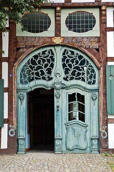 Jugendstil gate in Paderborn, Germany. Now where did I leave my keys?