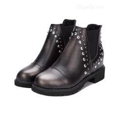 awesome Shoespie Rivets Decoration Flat Boots