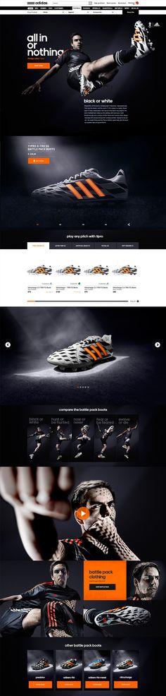 adidas - Battle Pack by Robbin Cenijn, via Behance Email Design, Ad Design, Branding Design, Graphic Design, Multimedia, Sports Website, Creative Web Design, Sports Graphics, Responsive Web Design