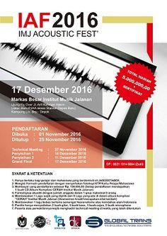 update IMJ Accoustic Fest 2016 Cari Musisi Muda Bertalenta, Berani Ikutan?