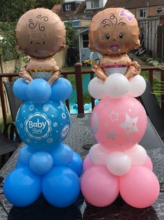 Baby Shower Wall Decor, Diy Baby Shower Decorations, Baby Girl Shower Themes, Baby Shower Gender Reveal, Baby Shower Centerpieces, Balloon Decorations, Baby Boy Shower, Birthday Decorations, Baby Balloon