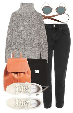 """""""Untitled #632"""" by paradise-101 ❤ liked on Polyvore featuring Topshop, H&M, Theory, 10 Crosby Derek Lam, Eyevan 7285, school and chilly"""