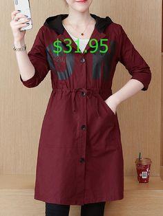 YUNY Womens Wool Blend Double-Breasted Layered Irregular Hem Pea Coat Navy Blue 4XL