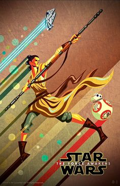 Star Wars: The Force Awakens DMR Hero's poster series