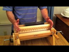Tying Up Boards for Book Binding - AffordableBindingEquipment.com [ everything John makes is very high quality, heavy & easy to used. He makes lovely weights for weighing pieces, pages, book block & books. I won't use anything else ]